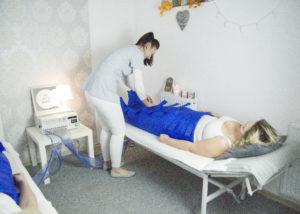 drenaż limfatyczny zabieg presoterapia gabinet kobiety